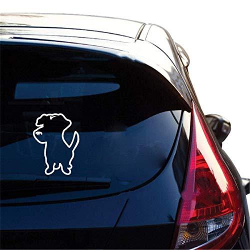 Promini Premium Anti-Staub-Vinyl-Aufkleber, niedlicher Jack Russel Hund, Auto-Aufkleber, Dekoration, Zubehör für Auto, Laptop, Fenster, 15,2 cm