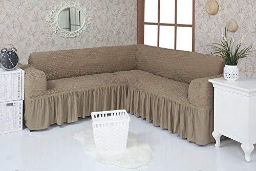 Mixibaby Eck Sofabezug Sofahusse Sesselbezug Sitzbezug Sesselüberwurf Stretchhusse Sofahusse,...