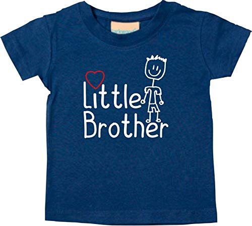 Shirtstown bebé Kids-T, Little Brother Piccolo Bruder - Turchese, 6-12Monate