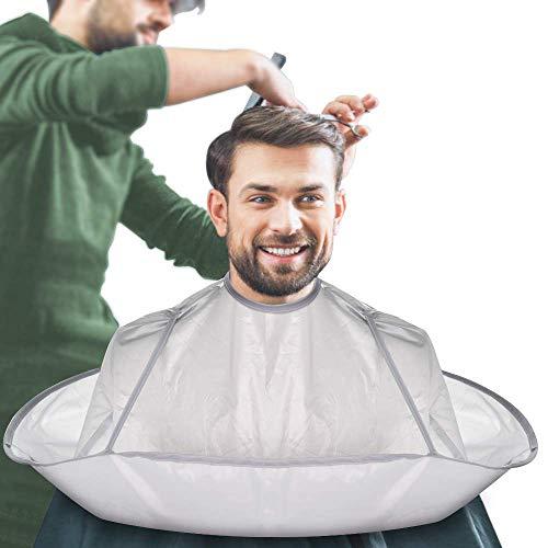 Capa Peluqueria Babero de Corte de Pelo Impermeable y Plegable Delantal de Afeitado de Salón Accesorio de Peluquería