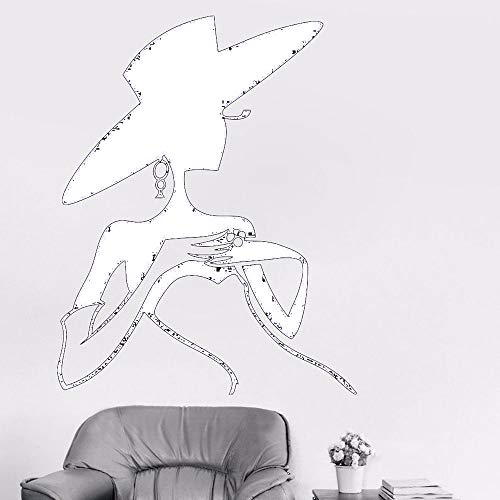 Zaosan ModeModellHut vinylwandaufkleberdekorationzubehör Wohnzimmer wandtattooschönheitssalon bekleidungsgeschäft33x42 cm