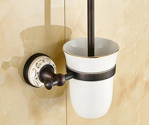 FAFZ Porte-serviette de style européen, accessoires de salle de bains en bronze, serviette antique (couleur : 1#)