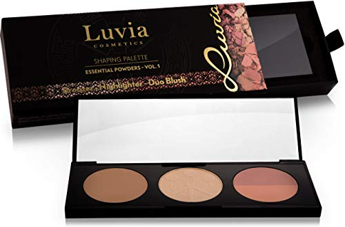 Luvia Rouge Palette 3 IN 1 Inkl. Highlighter, Bronzer & Duo Blush - Shaping Makeup Palette Für...