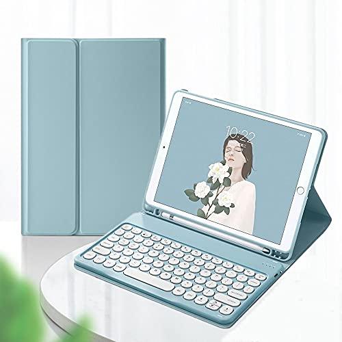 iPad5 iPad6 iPad Air2 Pro9.7 pulgadas Funda para teclado con teclado magnético separado para mujeres (iPad5/iPad6/Air/Air2/Pro9.7, rosa)