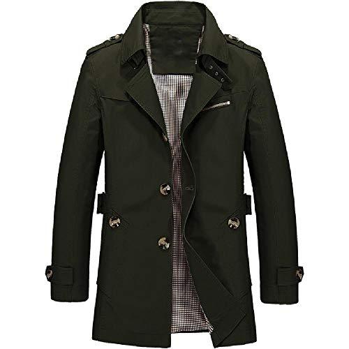 U/A Coat Slim Casual Chaqueta de algodón para hombre Verde verde 3XL