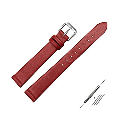 6/8/10/12mm delgada elegante del cuero genuino de reemplazo reloj pulsera de hebilla de la correa de reloj de pulsera con herramientas de instalación, 8mm
