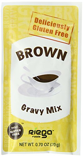 Riega Gluten Free Brown Gravy Mix, 0.70 Ounce (Pack of 8)