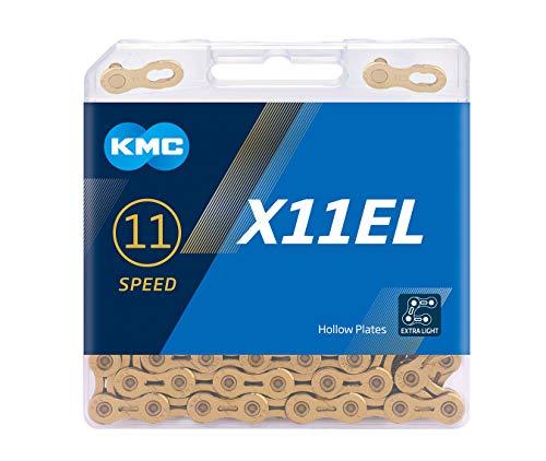 """KMC Unisex– Erwachsene Ti-N X11EL 11-Fach Kette 1/2\"""" x11/128, 118 Glieder, Gold"""