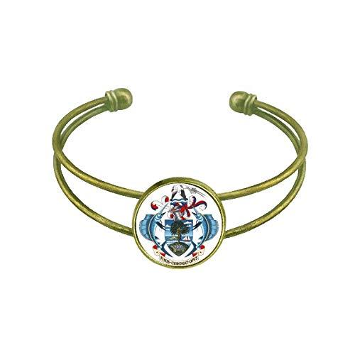 DIYthinker Seychellen Afrika National Emblem Armband Armreif Retro Offene Manschette Schmuck