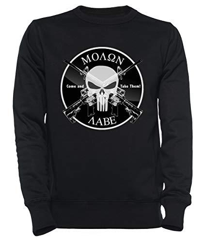 Rundi Molon Labe Herren Damen Unisex Sweatshirt Kapuzenpullover Schwarz Größe S - Women's Men's Unisex Sweatshirt Hoodie Black