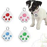 8 Pcs GPS Tracker for KidsAnti-Lost Alarm Device Dog Paw Style Mini Cat Dog GPS Tracking Locator Portable Bluetooth Item Finders-4 Pcs