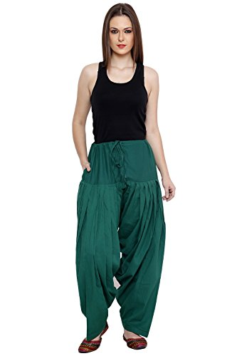 Pistaa Women's cotton Dark Green full cotton patiala salwar bottom...