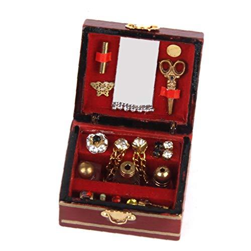 Hiinice Rectángulo Cajas de Recuerdo Vendimia de la joyería Caja Adornada Final Antiguo Grabado Organizador Caja