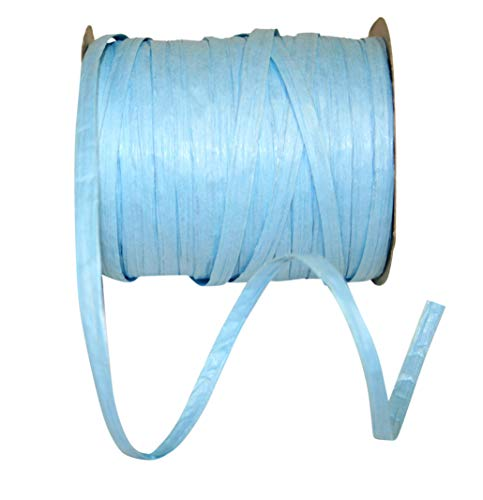 Reliant Ribbon Paper Raffia Ribbon, 1/4 Inch X 100 Yards, Light Blue