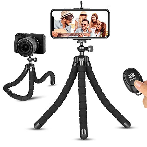 Phone Tripod, Portable and Flexible Phone Tripod Adjustable Camera Tripod Stand Compatible with iPhone Android Phone Camera GoPro for Tiktok YouTube Video Vlogging Streaming