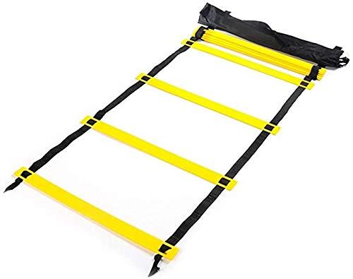 VLFit Escalera de coordinación de 6M de Largo | 50 cm de Ancho| con Bolsa y Clavijas | Escalera de Velocidad | Escalera de Velocidad para fútbol, Fitness, Deportes, Balonmano