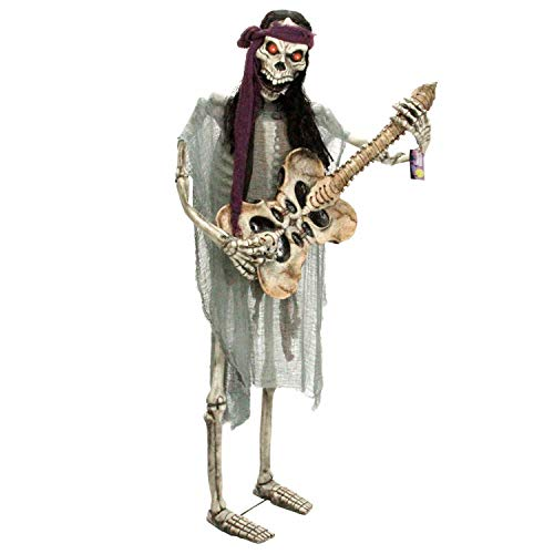 Standing Skeleton Playing Guide Life-Size Halloween Prop