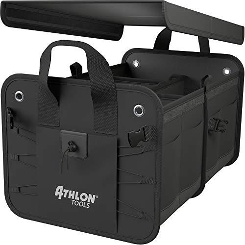 ATHLON TOOLS Premium Kofferraumtasche mit Deckel - Testsieger 02/2021