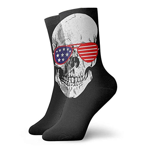 Tammy Jear Skull Wear USA Flag SunGlasses Calcetines Novedad Soft Elasticity Calcetines deportivos para hombres Mujeres