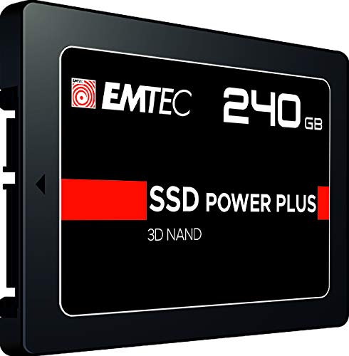 Emtec ECSSD240GX150 - Disque SSDInterne - 2.5'' - SATA - Collection X150 Power Plus - 3D NAND - 240 GB