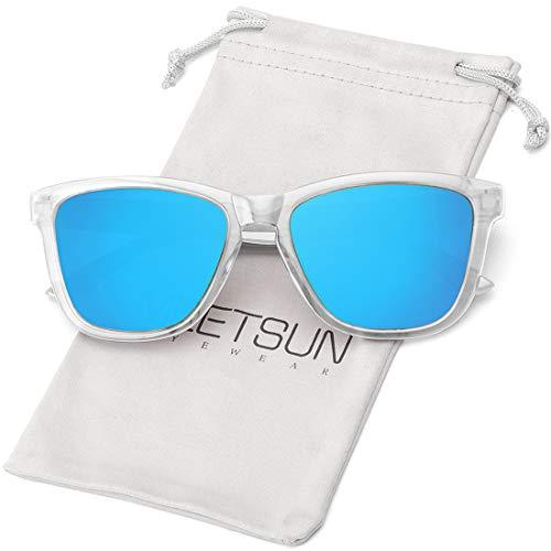 MEETSUN Gafas de sol polarizadas para mujeres y hombres, estilo clásico retro