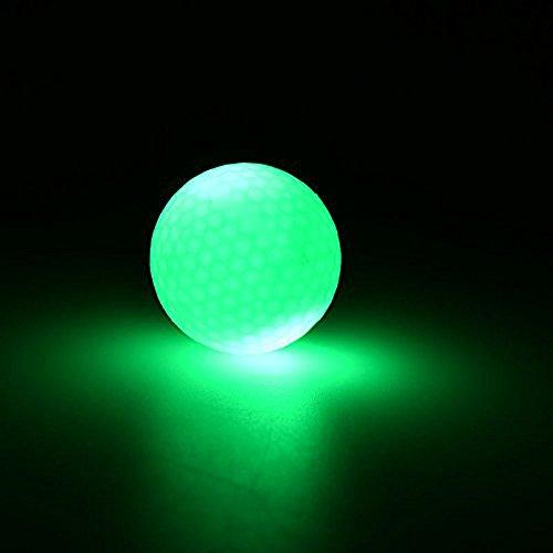 Leuchtende Golfbälle, 6 Stück Golf Übungsbälle, LED Leuchte Golf, Elektronische LED Leuchtgolfbälle für Nachttraining Mit Großer Reichweite und Distanzschüssen (Blaulicht) (Grünes Licht) - 3