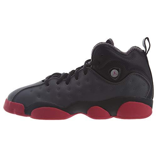 Jordan Kids Jumpman Team II Basketball Sneaker (GS) (4 Big Kid, Dark Grey/Vivid Pink/Blk)