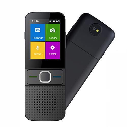 Dispositivo traduttore linguistico a due vie WiFi Hotspot Offline Instant 2.4 pollici touch screen con traduzione foto supporto 137 lingue Pocket funzione di traduzione vocale viaggio(T10)