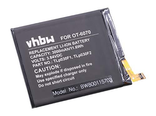 vhbw Litio polímero batería 3000mAh (3.84V) para móvil Smartphone teléfono Vodafone Smart...