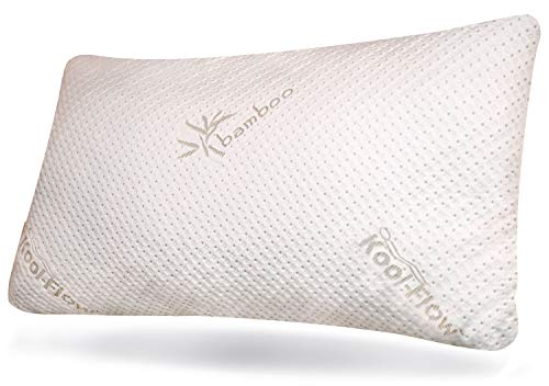 Snuggle-Pedic Memory Foam Pillow - Original Bamboo Case, Shredded Foam Sleeping Pillows For Side, Back and Stomach Sleeper - Premium, Soft, Cooling, Allergy Friendly Luxury Bed Support For Comfortable Sleep - King