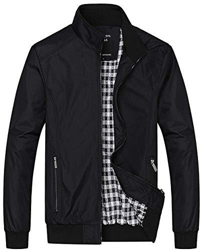 Heren lente zomer herfst vrijetijdsjas klassiek polyester blouson dunne bomberjack Fashionable Completi mantel licht opstaande kraag bomberjas Mens Jackets