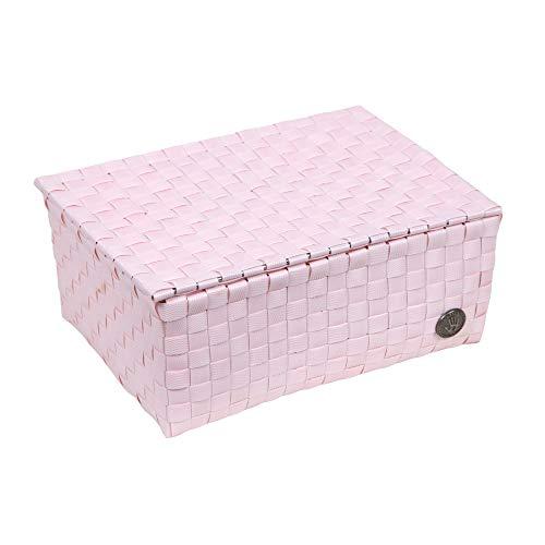 Handed By - Korb, Flechtkorb mit Deckel - Udine - Powder pink 10 x 24 x 18 cm