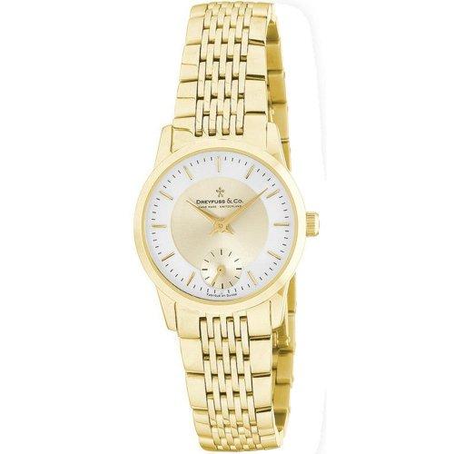Dreyfuss & Co DLB00002-03 - Reloj para Mujeres, Correa de Acero Inoxidable
