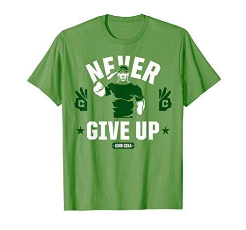 WWE John Cena Never Give Up Salute Camiseta