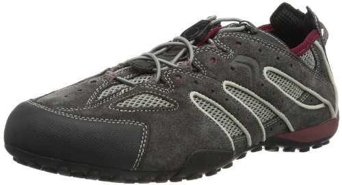Geox UOMO SNAKE J, Herren Sneakers, Grau (DK GREY/BORDEAUXC0031), 46 EU
