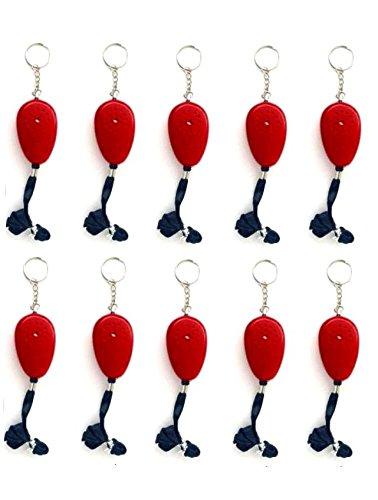 10er Set Personenalarm 105 dB mit Schlüsselhänger Taschenalarm Schrillalarm