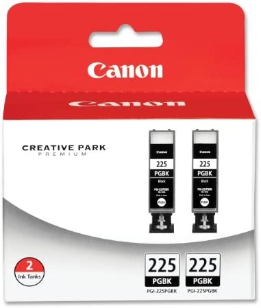 2 X Canon PGI-225 4530B007 Twin Pack Value Pack-Black