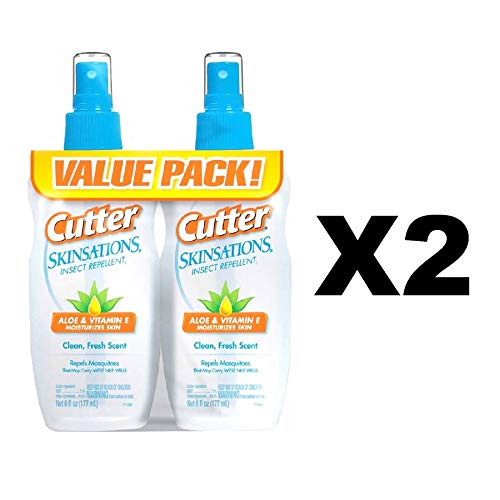 Cutter 54010 Skinsations 6-Ounce Insect Repellent Pump Spray 7-Percent DEET, Case Pack of 4