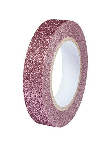 Rayher 60977268 Glitter Tape, altrosa, Rolle 5m, Breite 8mm, washi tape Klebeband, Papierfolie, Papierband, Klebeband, Dekoband