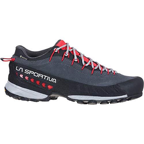 LA SPORTIVA TX4 Woman GTX, Zapatillas de Trekking Mujer, Carbon/Hibiscus, 39 EU