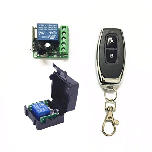 Mya 12 V DC 1 CH 433 MHz RF Interruptor de control a distancia inalámbrico módulo de relé receptor universal