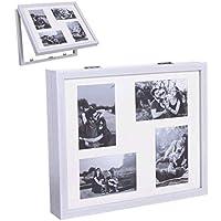 Tapa de contador de luz cubre cuadros electricos multifotos blanca 38x32x7 cm