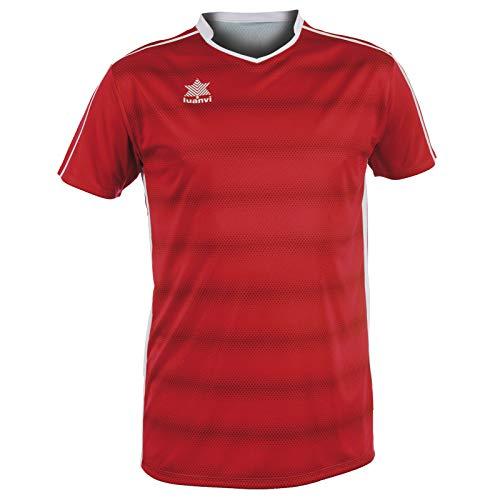 Luanvi Olimpia Camiseta de Fútbol, Unisex niños, Rojo, XXS