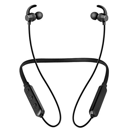 Hancoc Bluetooth 5.0 Diseño del Imán del Cuello For Colgar Los Auriculares Deportivos Largos 15 Horas Bajista Auricular Bluetooth Inalámbrico