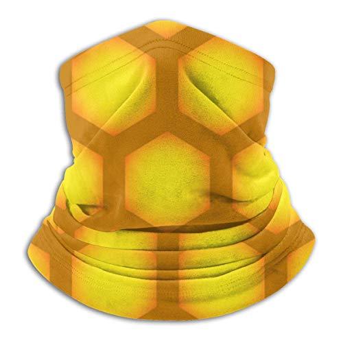 Panal de Abeja Patrón repetible Hexagonal sin Costuras Calentador de Cuello Sombreros Bufanda Abrigo para la Cabeza, Polaina para el Cuello, Bandana