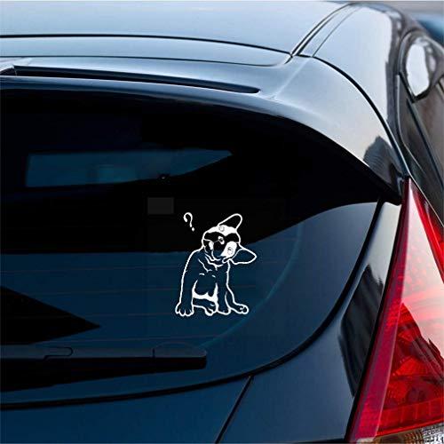 Bebe A Bordo Pegatina Coche 12.8x16.2 cm bulldog francés lindo cachorro mascota signo de interrogación pegatinas de coche calcomanía para coche portátil ventana pegatina