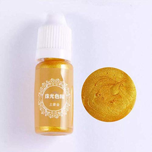 TuToy 10Ml Pearl Shiny Pigment 24 Farben Uv-Resin Epoxy Harz Glue Farb- - Luxus-Gold
