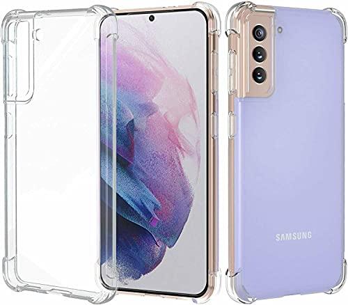 BNBUKLTD Compatible con Samsung Galaxy S21 5G caso transparente a prueba de golpes y lápiz protector de pantalla de cristal