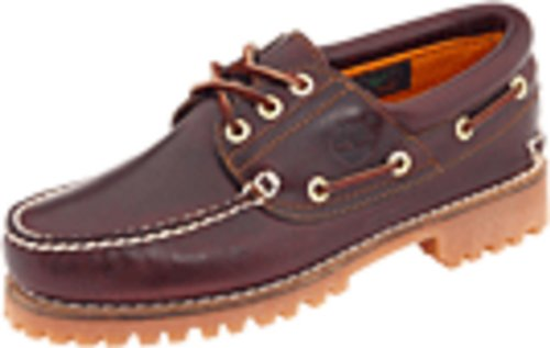 Timberland Men's Traditional Handsewn 3-Eyelet Classic Lug, Burgundy/Brown, 12M
