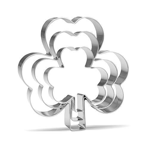 Clover Cookie Cutter Set - 3 Piece - Stainless Steel